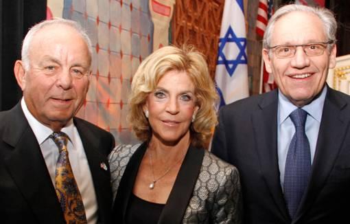 Abe Bernstein, Dianne Bernstein and Bob Woodward