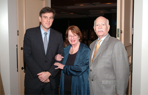 Bret Stephens, Ellen Klersfeld and Sheldon Hechtman