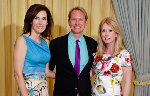 Joan Klann, Carson Kressley, Kitty Silverstein at Old Bags luncheon in Palm Beach