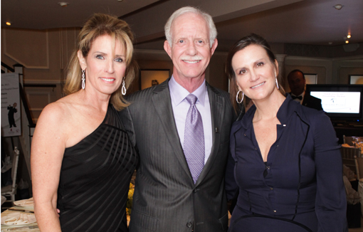 Lorrie Sullenberger, Chesley Sullenberger, Talbot Maxey at St. Jude dinner in Palm Beach.